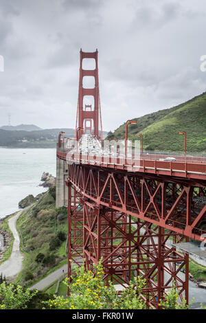 Golden Gate Bridge, San Francisco, California - Stock Photo