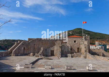 Inside the Citadel (Castel St Mary) of Old Town of Budva, Montenegro - Stock Photo