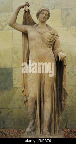 Statue of Venus. Goddess of Love. Roman, after Greek statue of Aphrodite by Kallimacos or from the Polykleitos school - Stock Photo