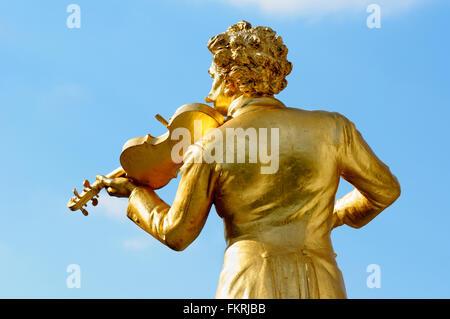 Statue of Johann Strauss II, Stadtpark, Vienna, Austria - Stock Photo