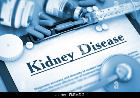 Kidney Disease Diagnosis. Medical Concept. 3D. - Stock Photo
