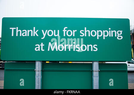 London, UK. 10th March 2016.  Supermarket Morrisons annual profits fall for fourth consecutive year. The Bradford - Stock Photo