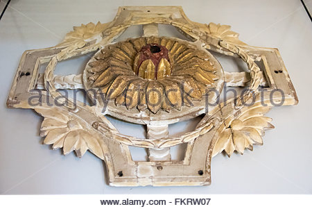Museum of Architecture: ceiling decoration traditional in Spanish colonial times  Trinidad is a Unesco World Heritage - Stock Photo