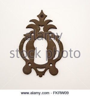Museum of Architecture: keyhole decoration traditional in Spanish colonial times  Trinidad is a Unesco World Heritage - Stock Photo
