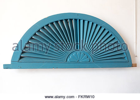 Museum of Architecture: Wood decorative arch traditional in Spanish colonial times  Trinidad is a Unesco World Heritage - Stock Photo