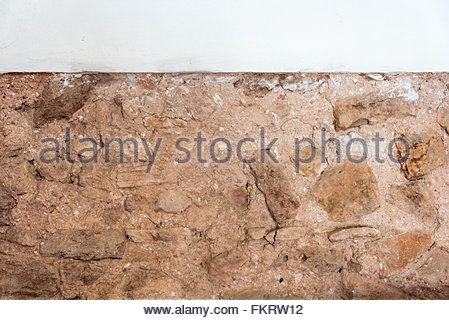 Museum of Architecture: clay and stone wall traditional in Spanish colonial times  Trinidad is a Unesco World Heritage - Stock Photo