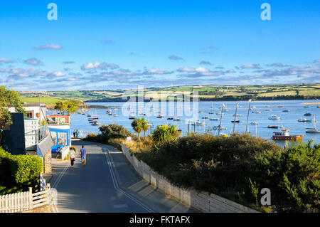 View from the coastal village of Rock across the River Camel estuary, Cornwall, UK - Stock Photo