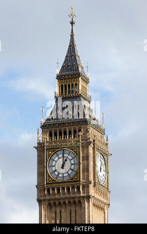 The Elizabeth Tower,commonly known as 'Big Ben',is part of The Palace of Westminster and is a worldwide Tourist - Stock Photo