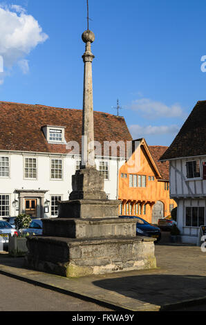A monument in the Market Place, Lavenham, Suffolk, England, United Kingdom. - Stock Photo