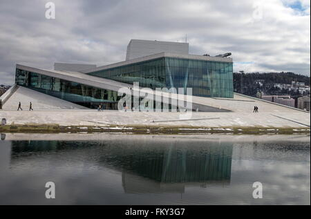 ... The Home Of The Norwegian National · OSLO, NORWAY.MARCH 10, 2016. A  View Of The Oslo Opera House