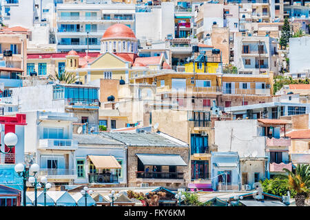 The sea port town of Sitia on the Greek island of Crete. - Stock Photo