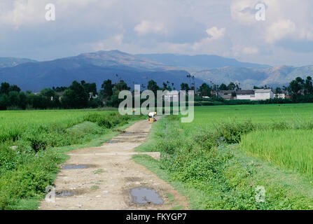 Small Village Near Lijiang, Yunnan Province, China - Stock Photo