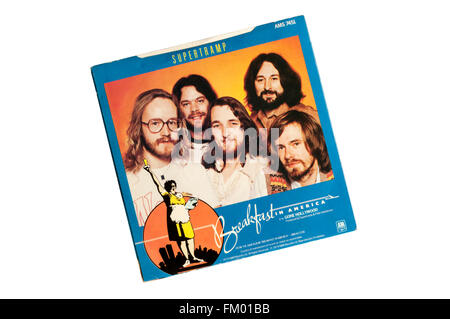 Breakfast in America was the title track from Supertramp's 1979 album of the same name. Photograph shows rear of - Stock Photo