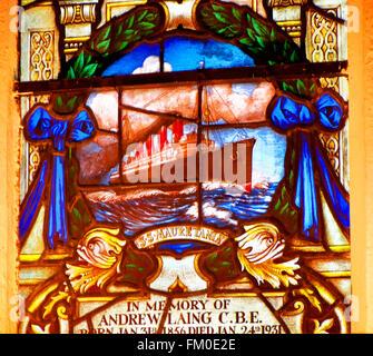 Mauretania window St Nicholas Cathedral Newcastle - Stock Photo