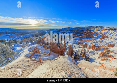 Superb view of Sunrise Point, Bryce Canyon National Park at Utah - Stock Photo