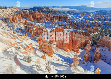 Superb view of Sunset Point, Bryce Canyon National Park at Utah - Stock Photo