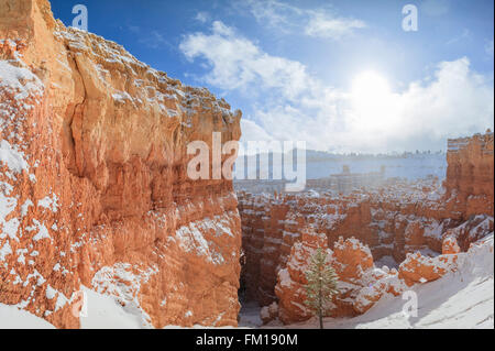 Superb view of Sunset Point of Bryce Canyon National Park at Utah - Stock Photo