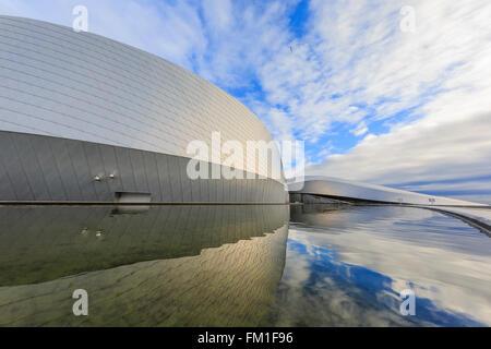 The famous National Aquarium Denmark of Copenhagen at morning - Stock Photo