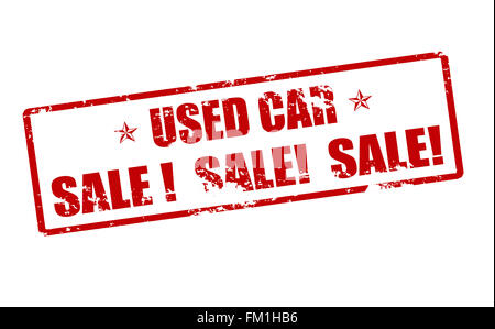 Rubber stamp with text used car inside, vector illustration - Stock Photo
