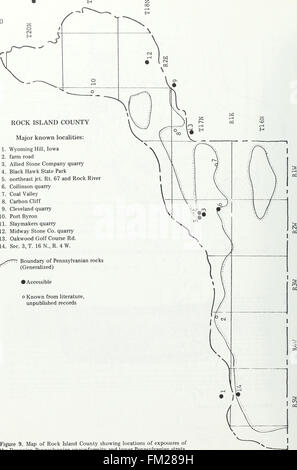 Early Pennsylvanian paleotopography and depositional environments, Rock Island County, Illinois (1985) - Stock Photo