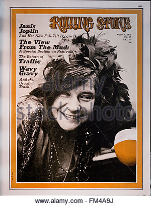 Rolling Stone magazine cover, August 6, 1970 issue - USA - Stock Photo