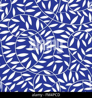 White vine leaves in a seamless pattern . - Stock Photo