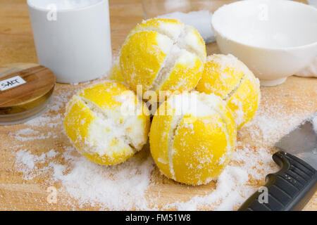 Lemons for Moroccan lemon preserve - Stock Photo