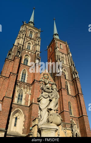 Cathedral on the Ostrow Tumski in Wroclaw., Poland - Stock Photo