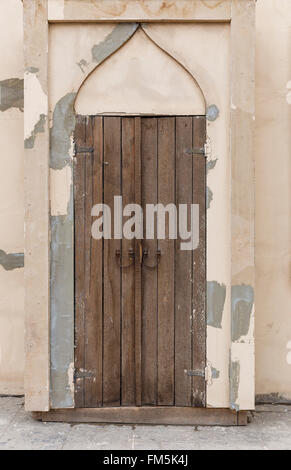Old door in the fortress in Baku.Azerbaijan - Stock Photo