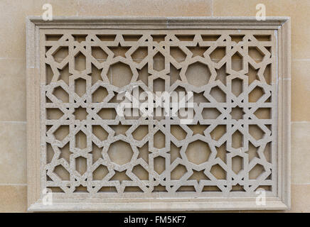 Islam Pattern On Exterior Wall Of The National Mosque