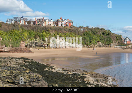 Jackson's Bay, a sandy beach tucked away on Barry Island on the South Wales coast - Stock Photo