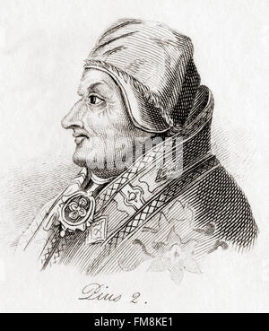 Pope Pius II, 1405 – 1464, born Enea Silvio Bartolomeo Piccolomini. - Stock Photo