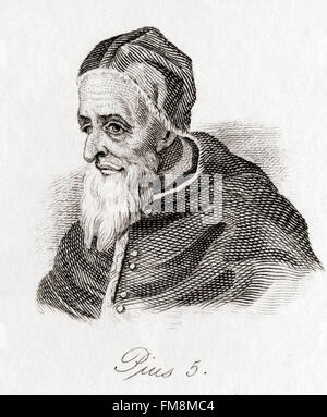 Pope Saint Pius V, 1504 – 1572, born Antonio Ghislieri. - Stock Photo