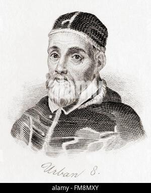 Pope Urban VIII,  c.1568 – 1644, born Maffeo Barberini. - Stock Photo