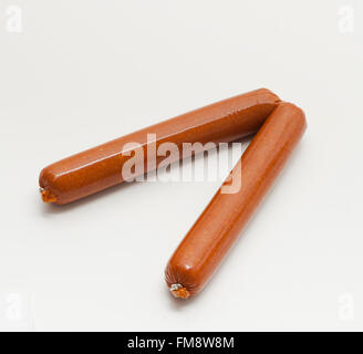 Soy Chorizo, Spanish-style vegetarian sausage from America, made with soya beans, flavoured with paprika, stuffed - Stock Photo