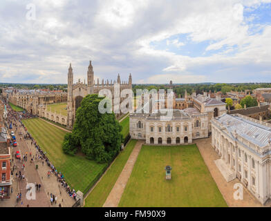 Aerial landscapes of the famous Cambridge University, King's College, United Kingdom - Stock Photo