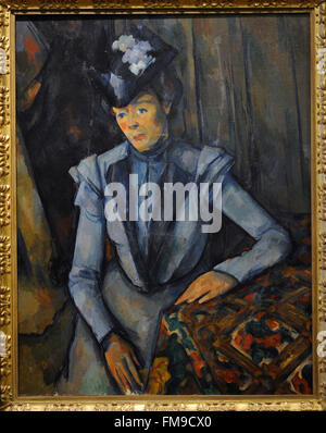 Madame Cezanne A Painting By Paul Cezanne In The Musee D