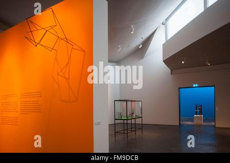 Denmark, Jutland, Herning, HEART Museum, art museum in manufacturing complex, gallery interior - Stock Photo