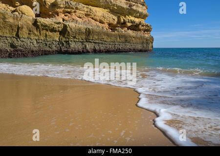 View from Fontainhas beach. Lagoa, Algarve, Portugal - Stock Photo