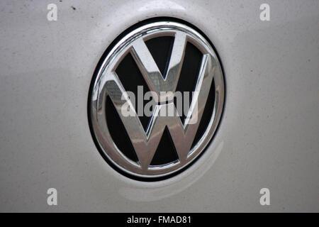 Markenname: 'VW - Volkswagen', Dezember 2013, Berlin. - Stock Photo