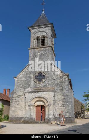 France, Indre, church of Vic, Nohant Vic, Saint Martin de Vic church - Stock Photo