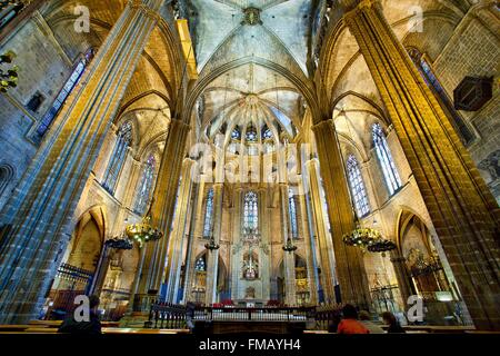 Spain, Catalonia, Barcelona, Barcelona's Cathedral - Stock Photo