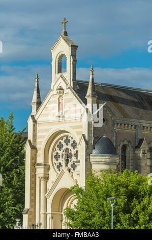 France, Mayenne, Chateau Gontier, the Hospital - Stock Photo