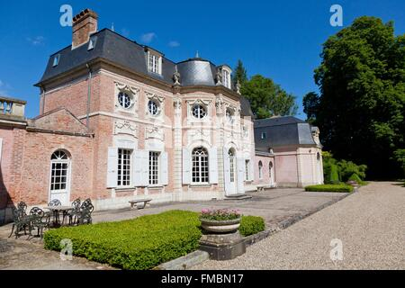 France, Somme, Abbeville, Bagatelle castle built in 1752 and listed as historical monuments - Stock Photo