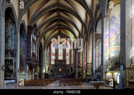 France, Pyrenees Orientales, Perpignan, the Saint Jean cathedral, 14th century - Stock Photo