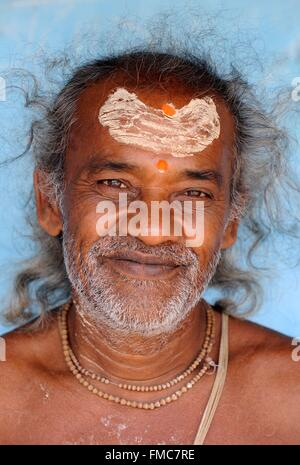 India, Odisha, sadhu - Stock Photo