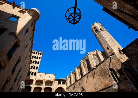 Spain, Catalonia, Barcelona, Placa del Rei, the 14th century royal chapel of Santa agata - Stock Photo