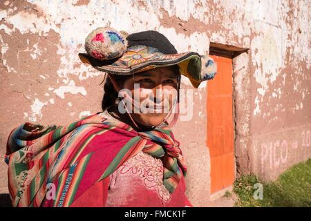 Peru, Puno Province, Titicaca lake, Capachica peninsula, Llachon village - Stock Photo