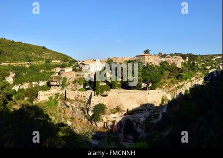 a view of minerve languedoc roussillon france europe. Black Bedroom Furniture Sets. Home Design Ideas