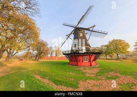 Traveling in the famous Copenhagen around Autumn season - Stock Photo